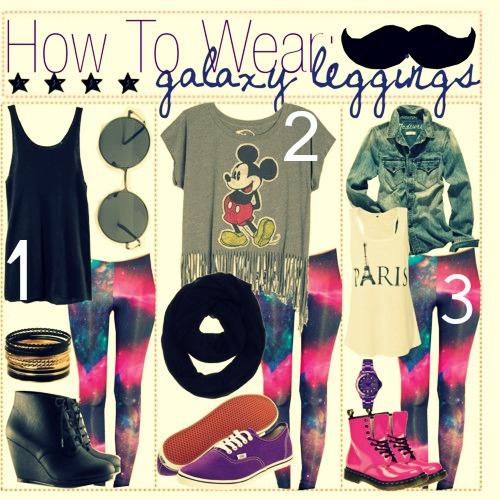 how to wear galaxy leggins