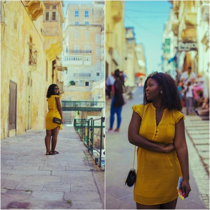 What to Wear in Malta - wandesworld malta yellow dress