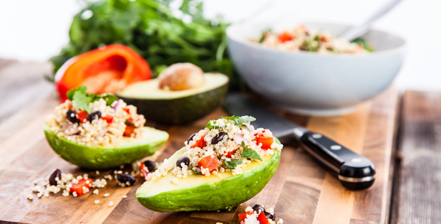 Stuffed Avocado with Quinoa Salad