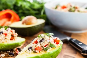 FOOD: STUFFED AVOCADO WITH QUINOA SALAD