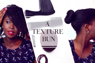 HOW TO CREATE THE TEXTURED BUN WITH 4C HAIR