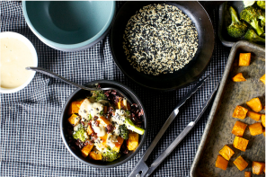 FOOD: MISO SWEET POTATO AND BROCCOLI BOWL