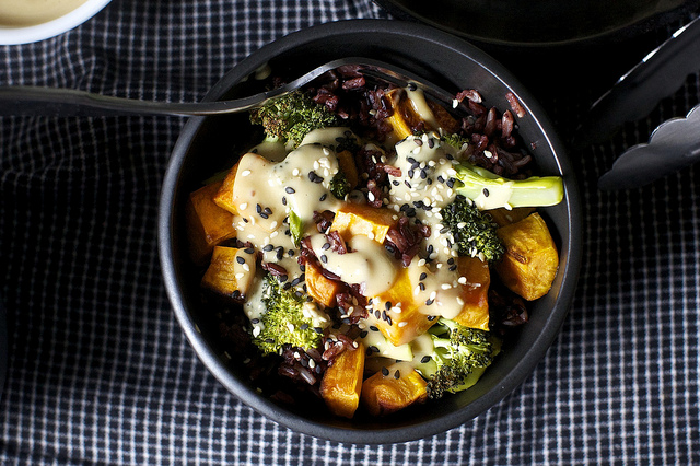 miso-sweet-potato-and-broccoli-bowl