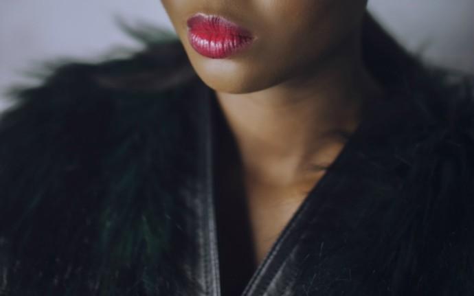 H&M x Balmain Green Fur Coat