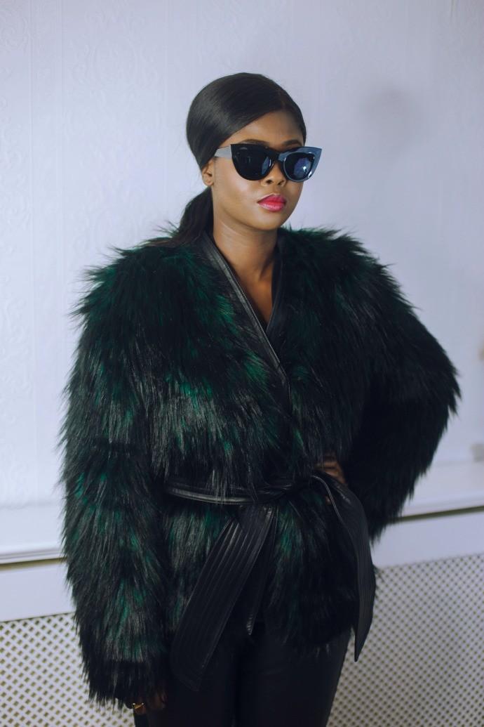 H&M_Balmain_2015_Green_Fur_Coat