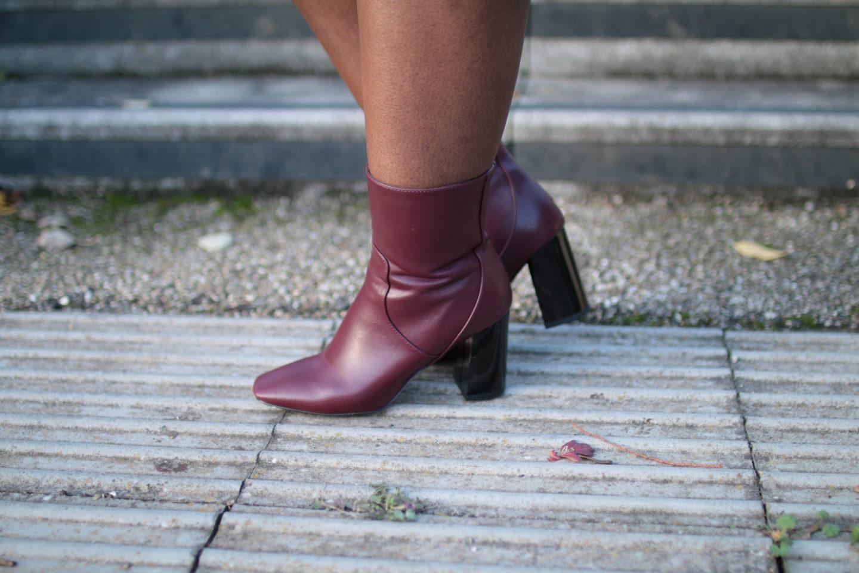 Burgundy_ ASOS_RAID Kesha Red Block Heeled Ankle Boots_Wandesworld