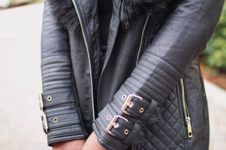River-Island-Black-faux-fur-collar belted-jacket-blogger-wandesworld