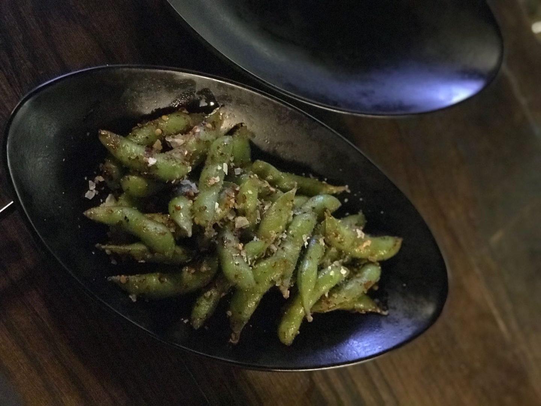 edamme beans at Yuu Kitchen